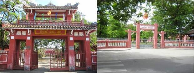 French mansions in Hue