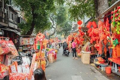 colorful tet street